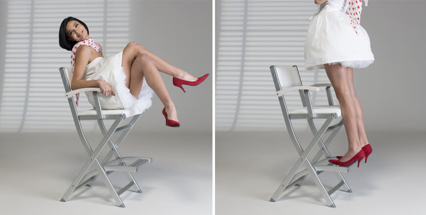 Chaises maquillage robustes