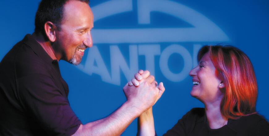 Ettore dall'Ara (R&D) et Anna Maria Cantoni – Président