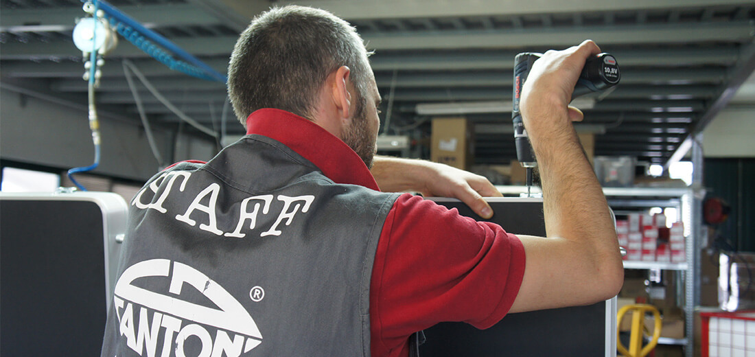 Production de la table maquillage Table maquillage professionnel Cantoni