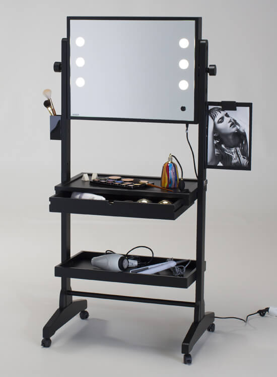 table maquillage avec miroir clair cantoni. Black Bedroom Furniture Sets. Home Design Ideas