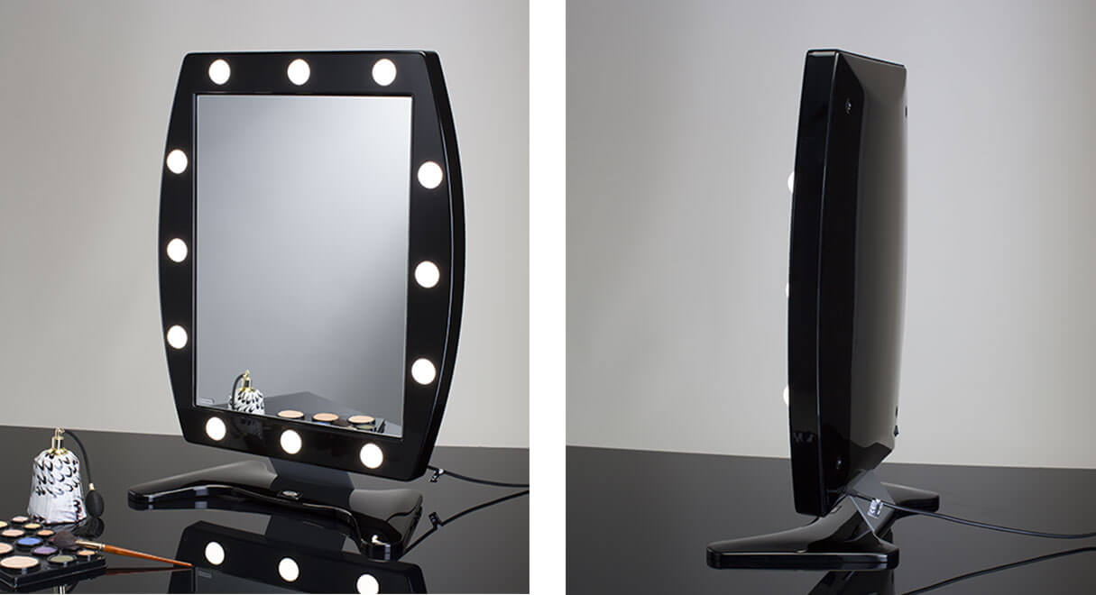 miroirs de maquillage avec lumi res. Black Bedroom Furniture Sets. Home Design Ideas