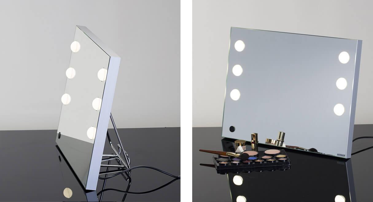 MDE miroir maquillage lumineux portable et pliable