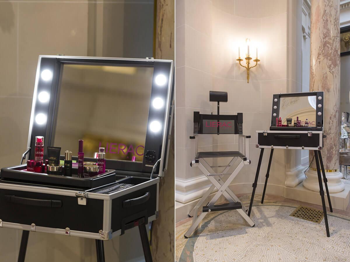 Table maquillage eclairè Cantoni pour Lierac