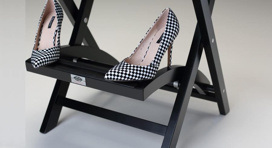détail chaise de make-up en bois choisi séché
