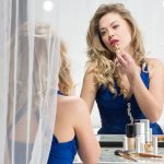 coiffeuse avec miroir lumière pour maquillage