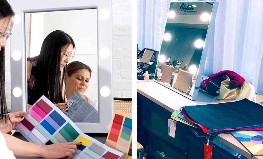 miroirs lumineux professionnels pour conseillers en image